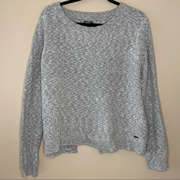 Roots grey sweater with open back
